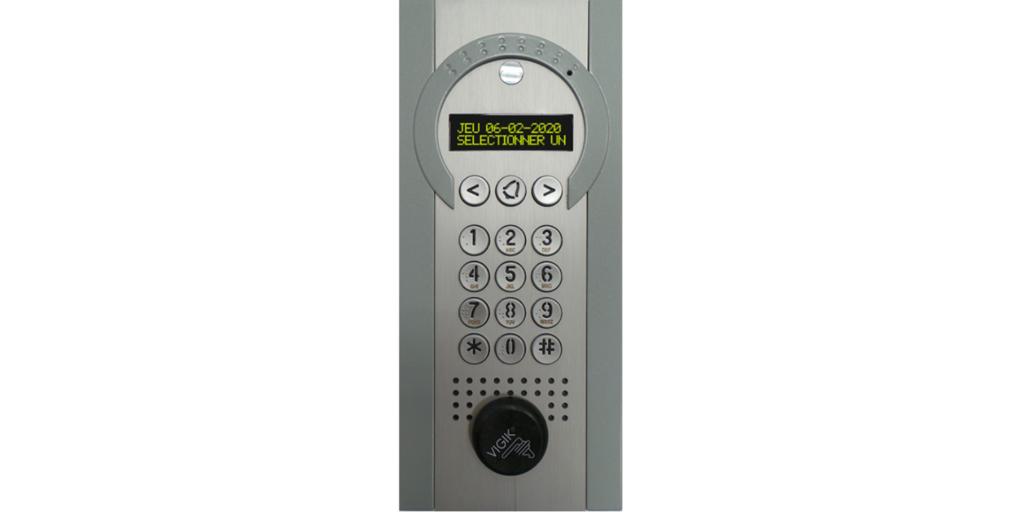 platine interphone installée par fermatic